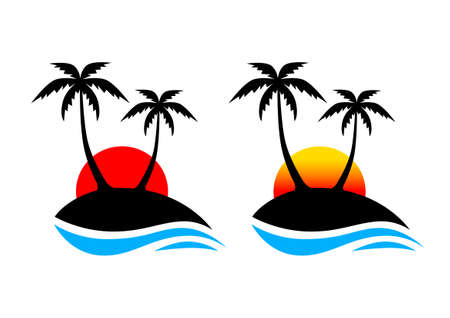 Palm tree icon   Vector