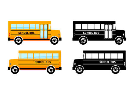 School bus on white background Vector