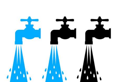 Wasserhahn Symbole