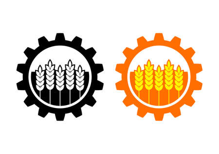 Industrial and agricultural icon on white background  Vector