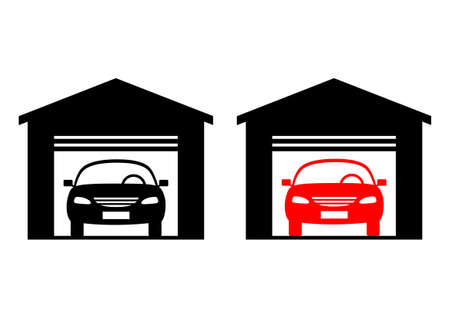 Car icon on white background Vector