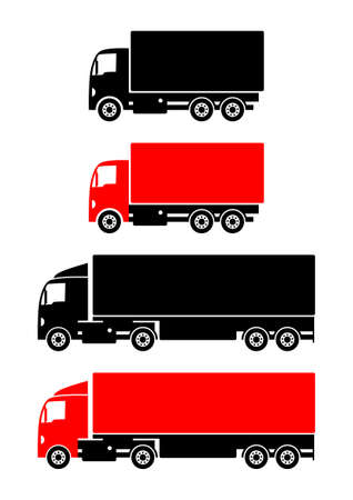 Truck icons on white background Vector