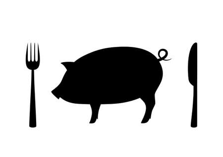 Pig icon on white background Vector