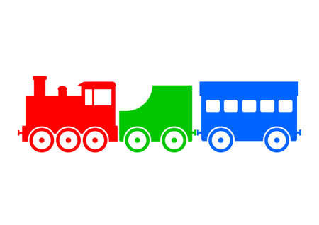 loco: Colorful train icon   Illustration