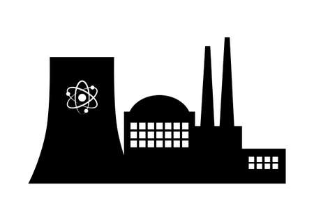Nuclear power station on white background Stock Vector - 29414561