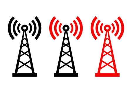 Transmitter icons on white background  Vector