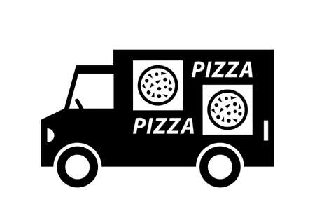 Delivery van on white background  Vector