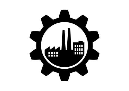 toothed: Industrial icon on white background Illustration