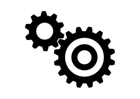 Industrial icon on white background Illustration