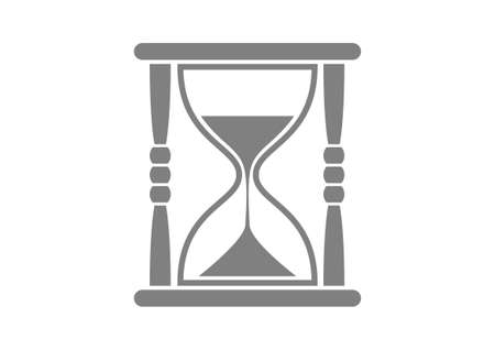 timepieces: Grey hourglass icon on white background