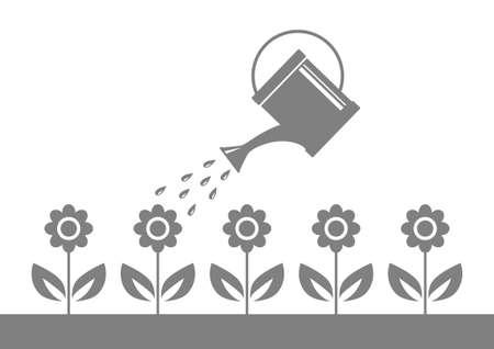 irrigation: Grey garden icon