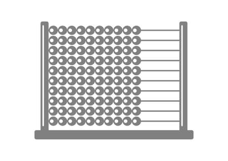 Grey abacus icon on white background Vector