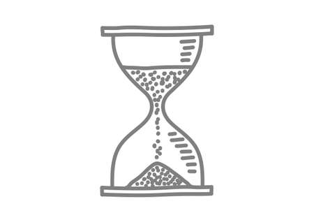 Grey hourglass icon on white background Vector