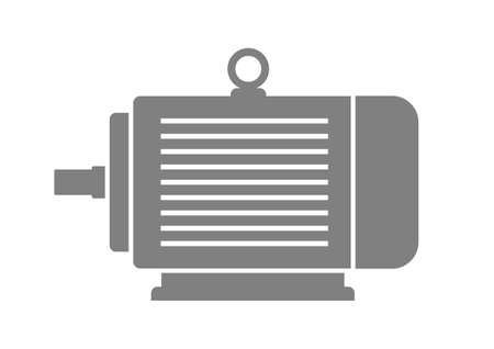 Grey electric motor on white background  Vector
