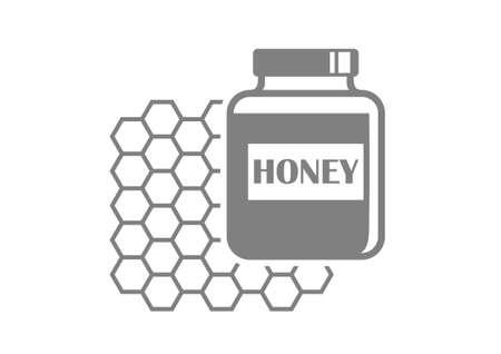 curative: Grey honey icon on white background