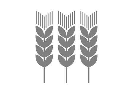 Grey agricultural icon on white background   Vector