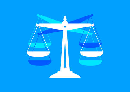 scale icon: Scale icon on blue background