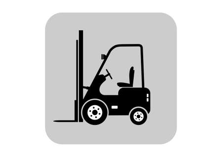 forklift truck: Forklift truck on white background   Illustration