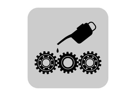 oilcan: Industrial icon on white background Illustration