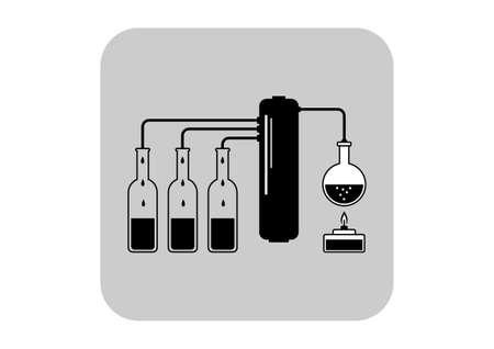 distill: Distillation kit vector icon