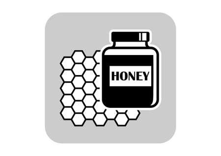 curative: Honey vector icon