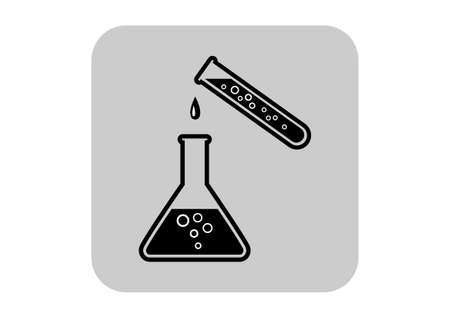 Laboratory glass icon Vector