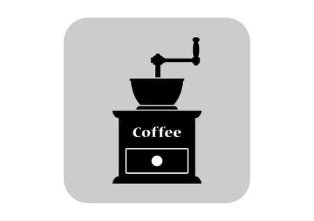 macinino caffè: Icona Coffee grinder Vettoriali