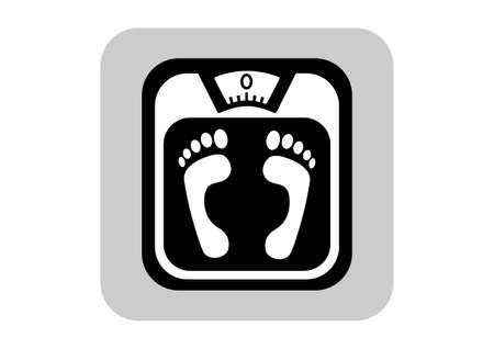 bathroom scale: Bathroom scale icon