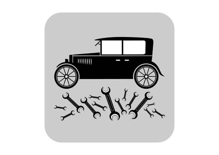 Car vector icon Vector