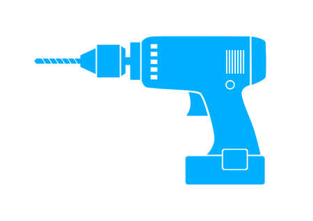 Blue drill icon on white background Vector