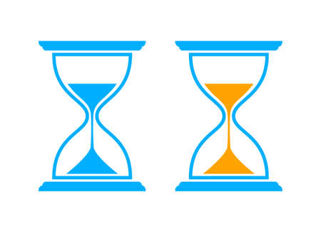 timepieces: Hourglass icons on white background