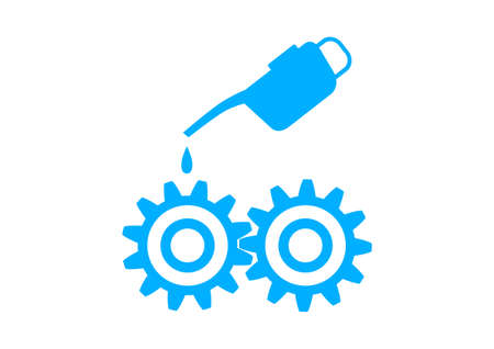 industrial icon: Blue industrial icon on white background