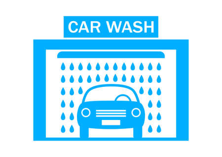 car clean: Car wash icon on white background