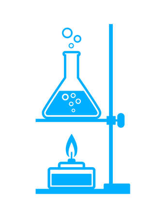 laboratory glass: Blue laboratory equipment on white background