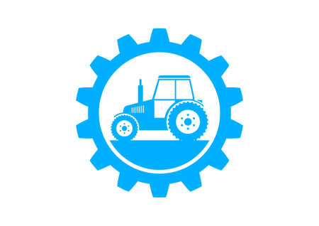 Blue industrial icon on white background Vector
