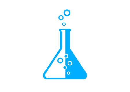 laboratory glass: Blue laboratory glass on white background
