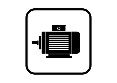electric motor: Electric motor icon on white background