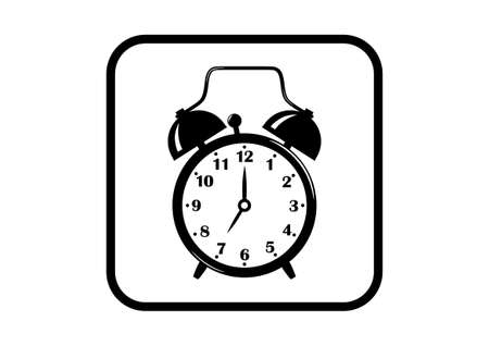 alarmclock: Alarm clock icon on white background Illustration