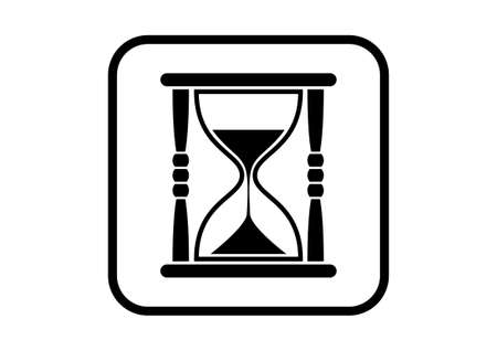 timepieces: Hourglass vector icon on white background
