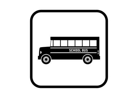 School bus vector icon on white background Vector
