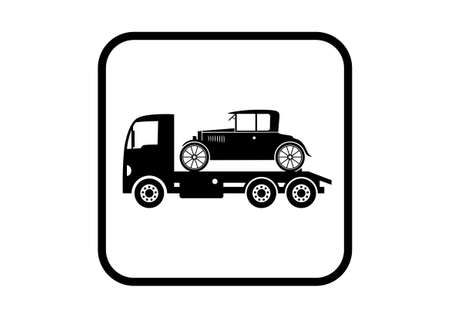 Tow truck with car Vector