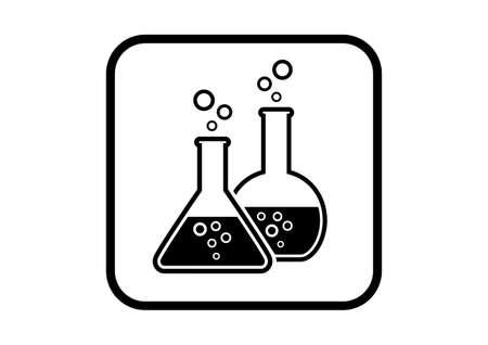 laboratory glass: Laboratory glass icon on white background Illustration