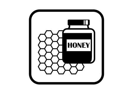 curative: Honey vector icon on white background
