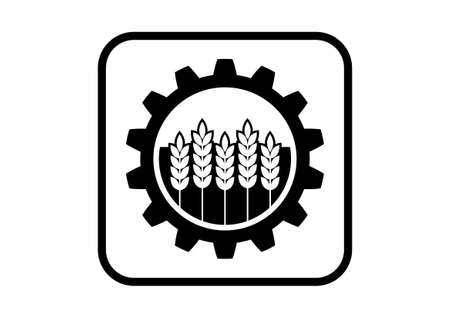 Industrial icon on white background Vector
