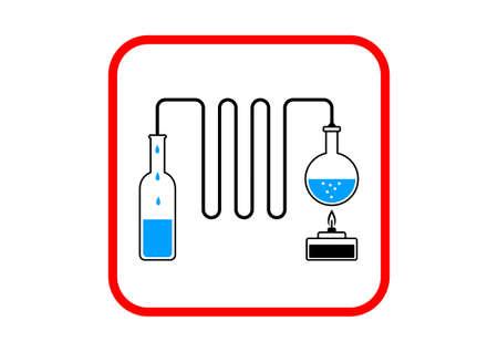 distill: Distillation kit on white background