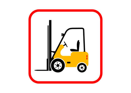 forklift truck: Forklift truck on white background