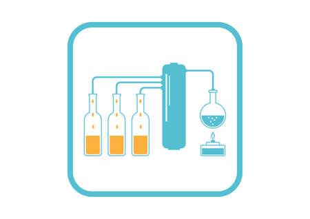 distillation: Kit de destilaci�n en el fondo blanco Vectores