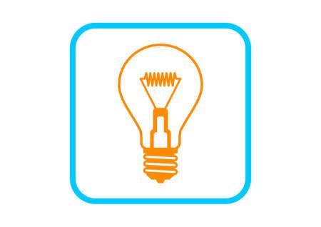 watt: Light bulb icon on white background Illustration