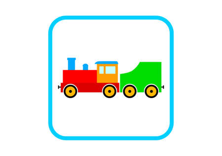 loco: Train vector icon on white background