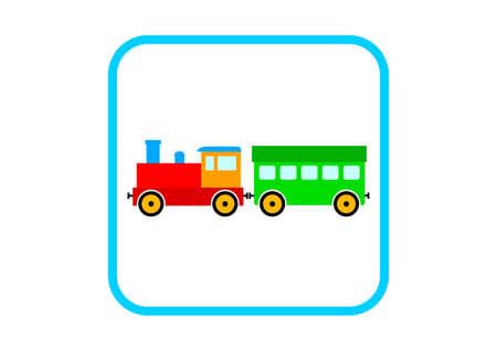 wood railroads: Train vector icon on white background